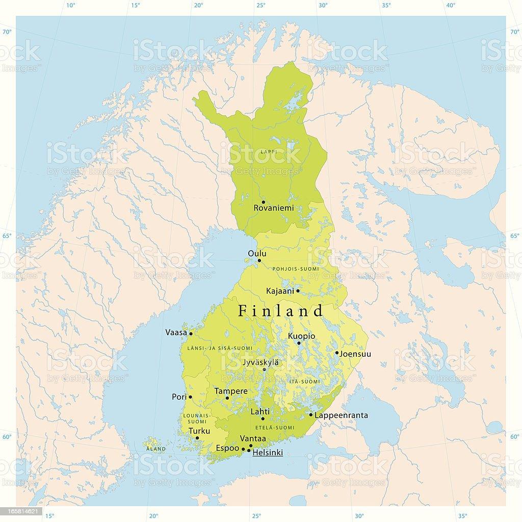 Finland Vector Map royalty-free stock vector art