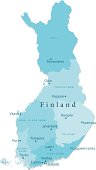 Finland Vector Map Regions Isolated