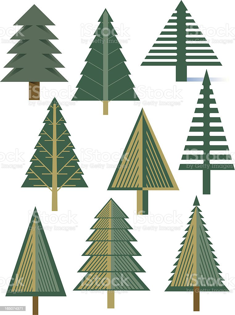 Fir trees royalty-free stock vector art