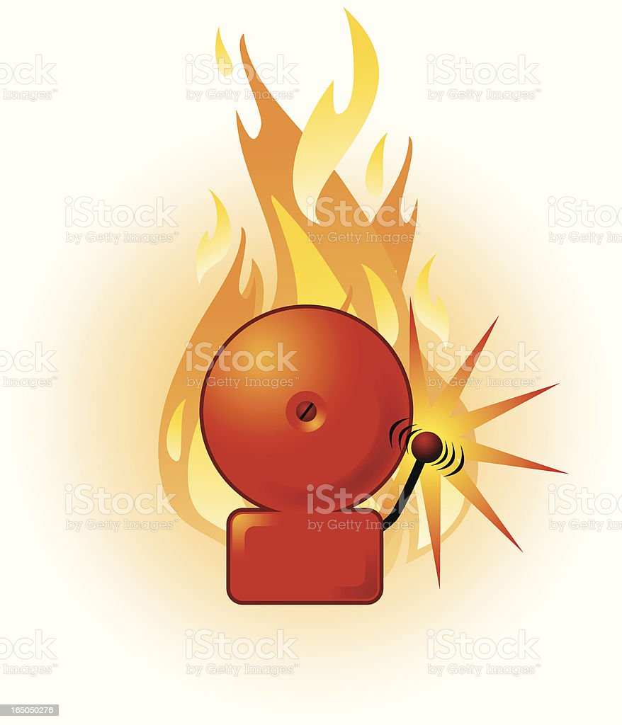 Fire alarm royalty-free stock vector art