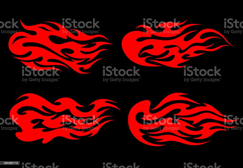 Fire flames tattoos royalty-free stock vector art