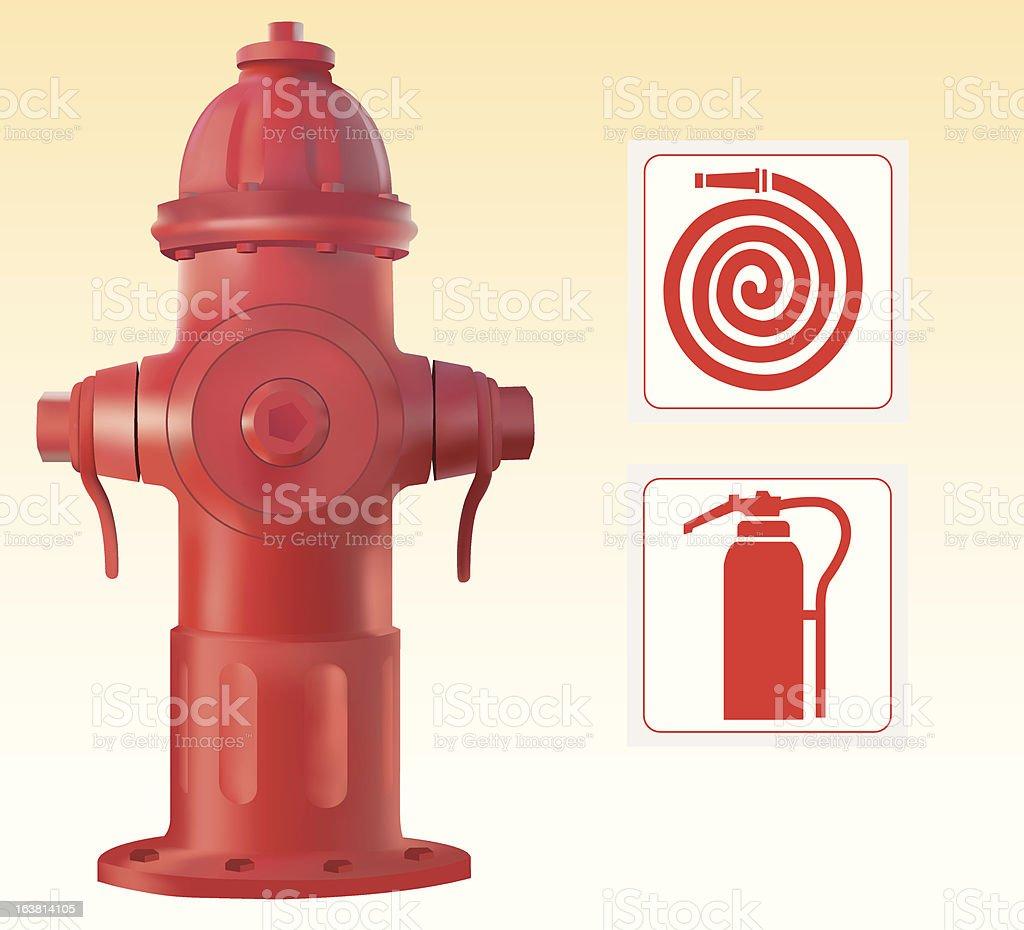 Fire hydrant vector art illustration