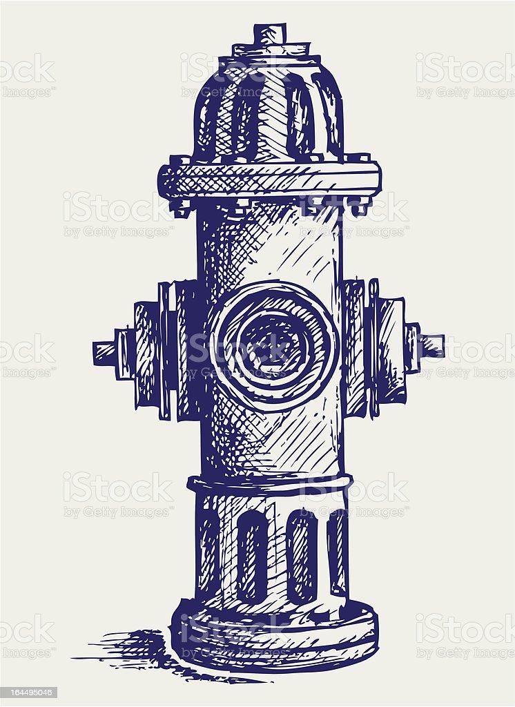 Fire Hydrant royalty-free stock vector art