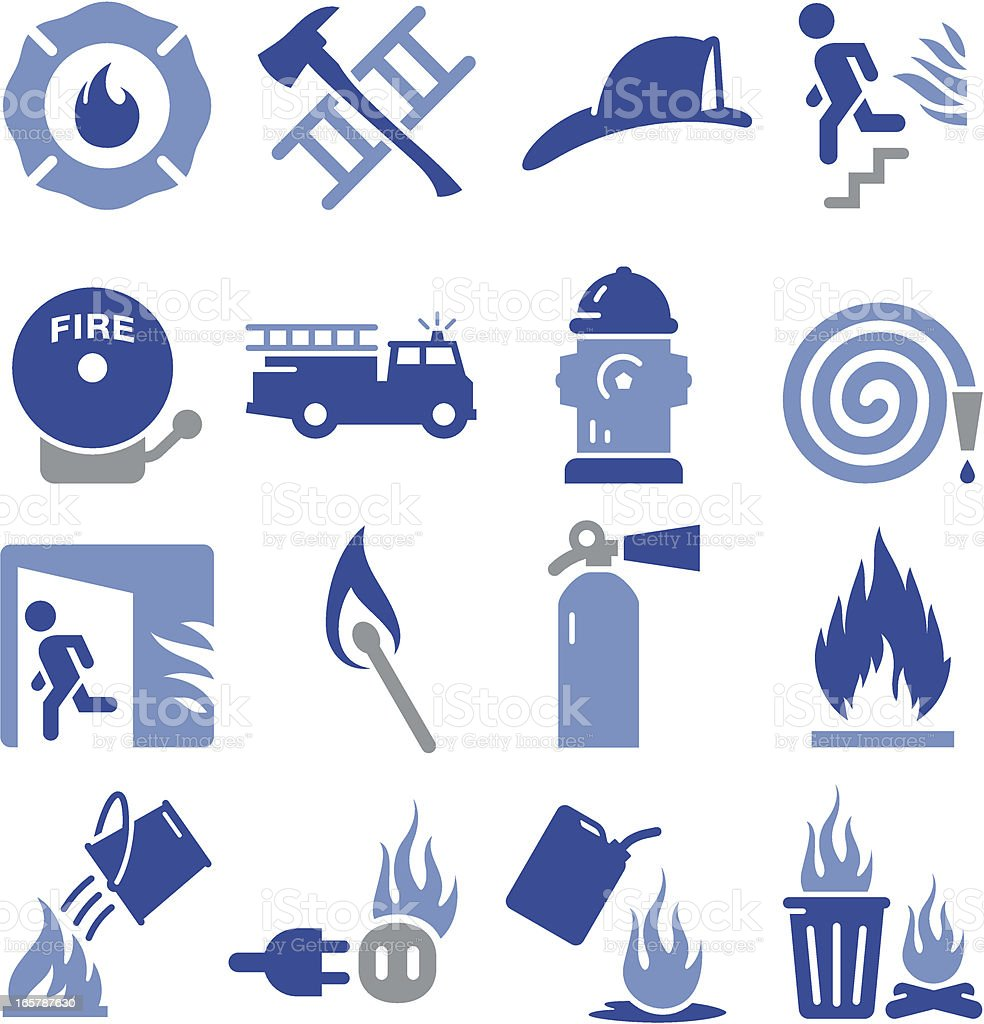 Fire Icons - Pro Series vector art illustration