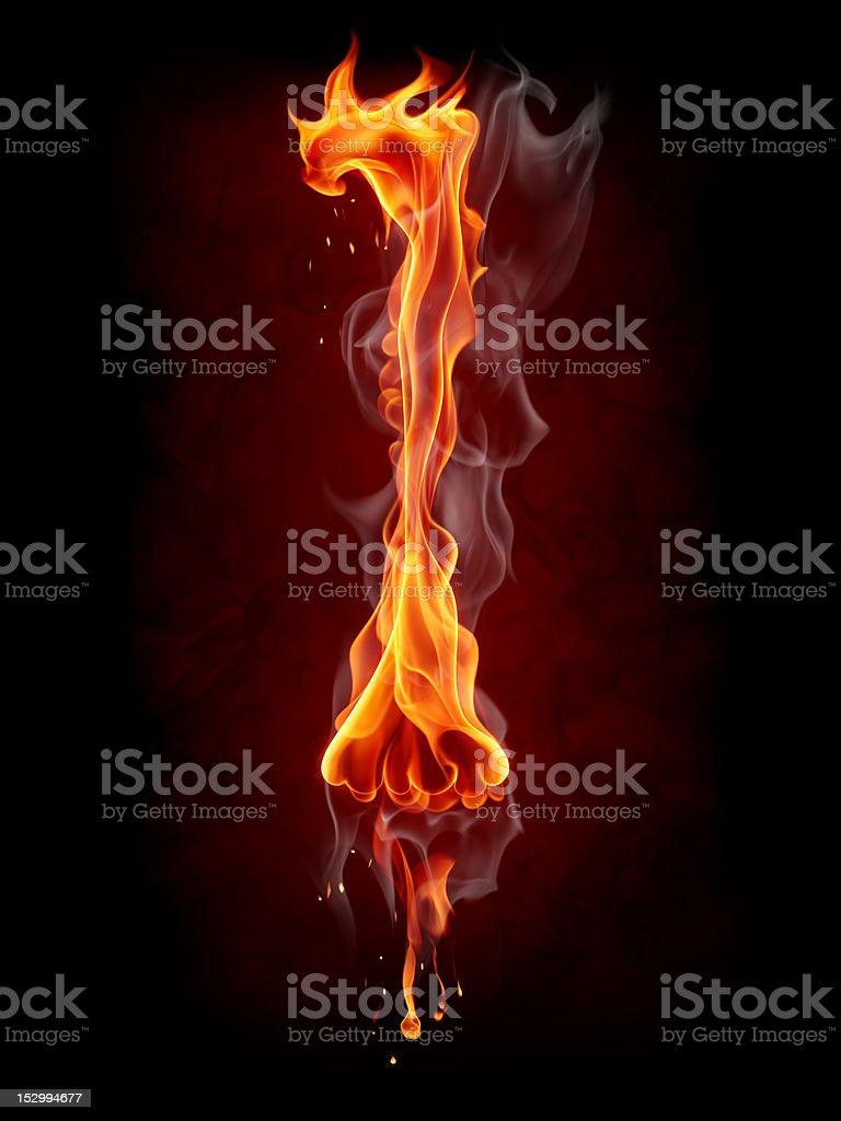 Fire letter royalty-free stock vector art