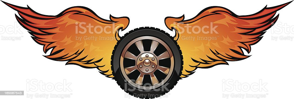 fire wings royalty-free stock vector art