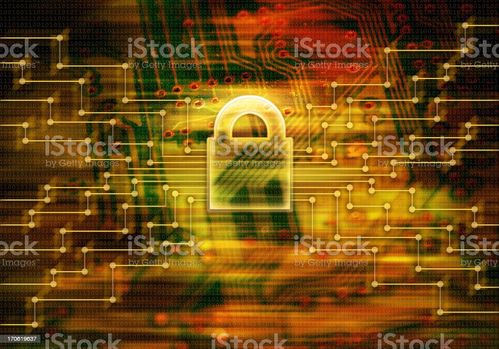 Firewall - Network Security royalty-free stock vector art