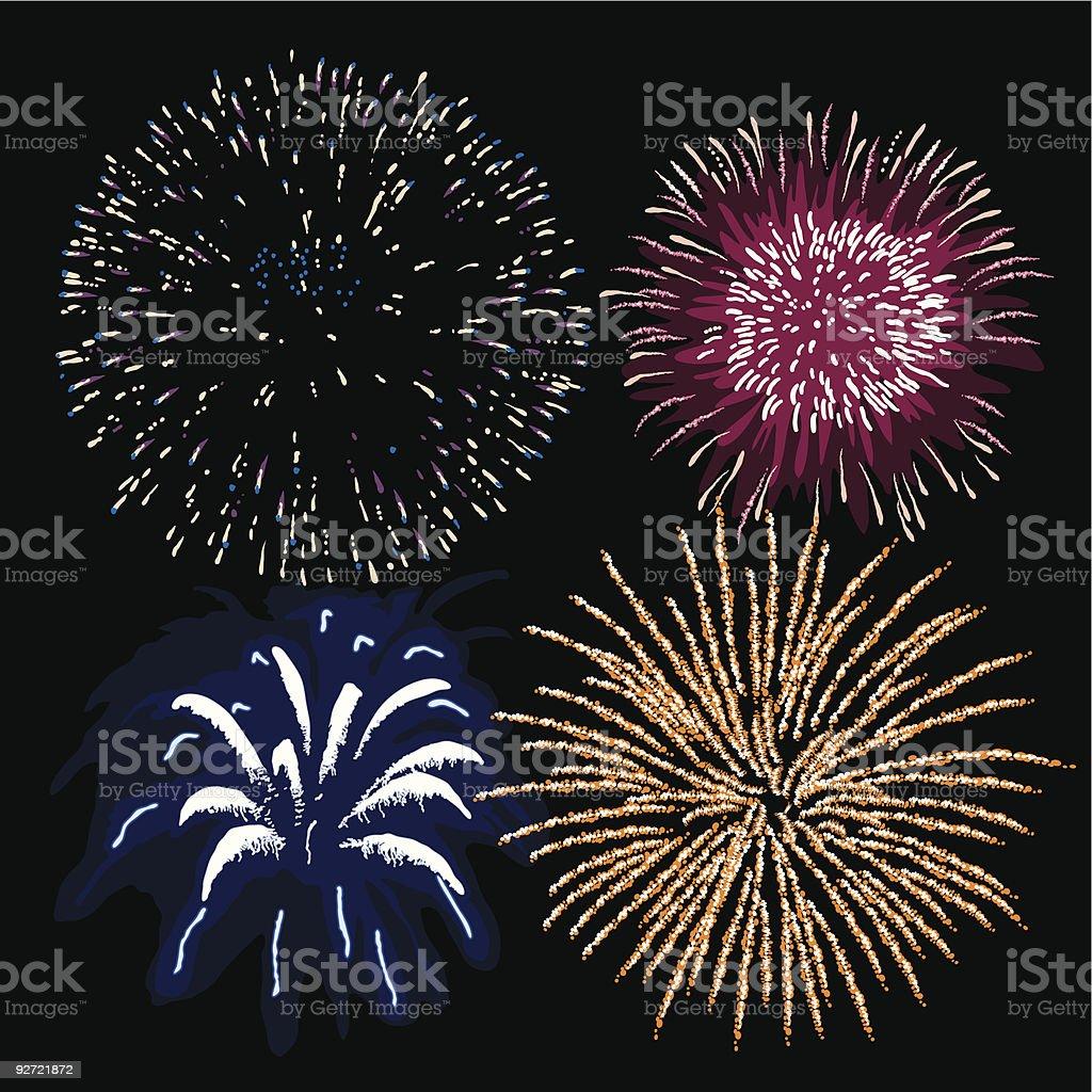 Fireworks (vector + XXL jpg in ZIP folder) royalty-free stock vector art