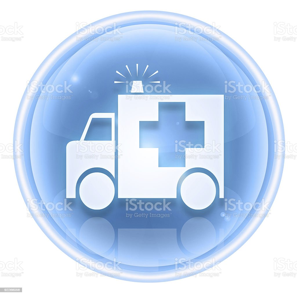 First aid icon ice, isolated on white background. royalty-free stock vector art