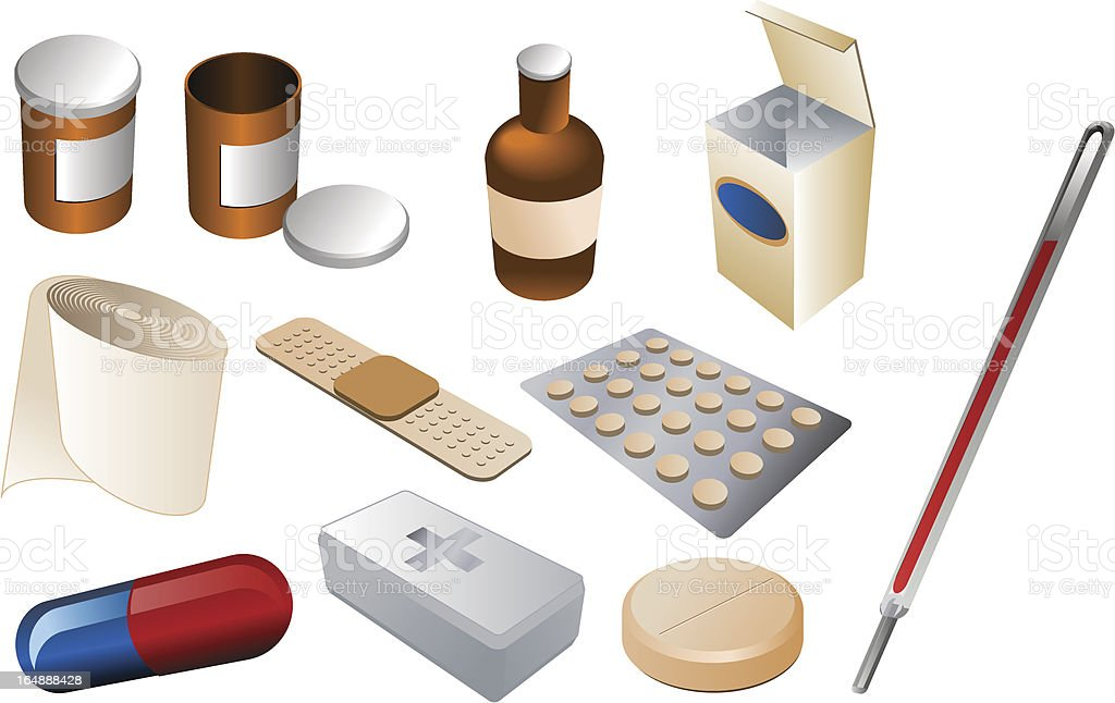First aid kit, vector isometric illustration royalty-free stock vector art