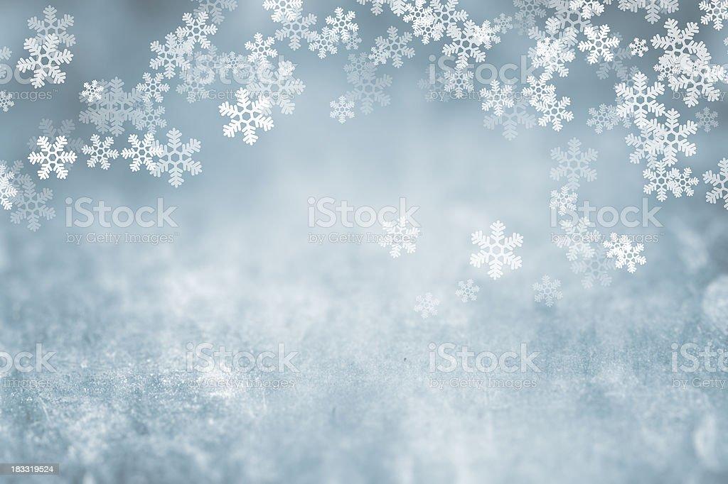 First Snowfall vector art illustration