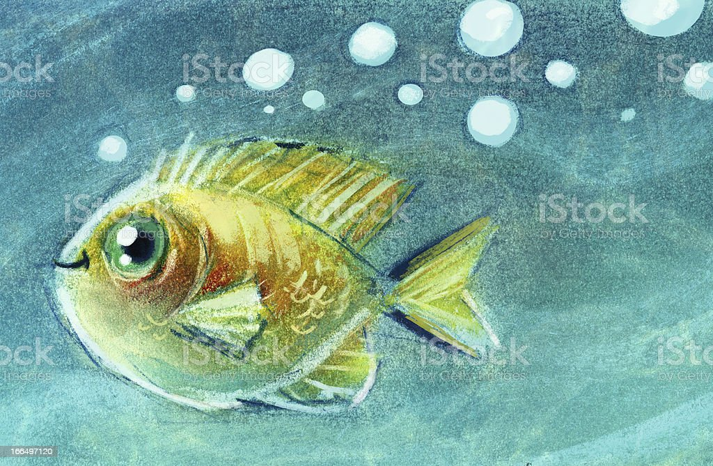 Fish in the water royalty-free stock vector art