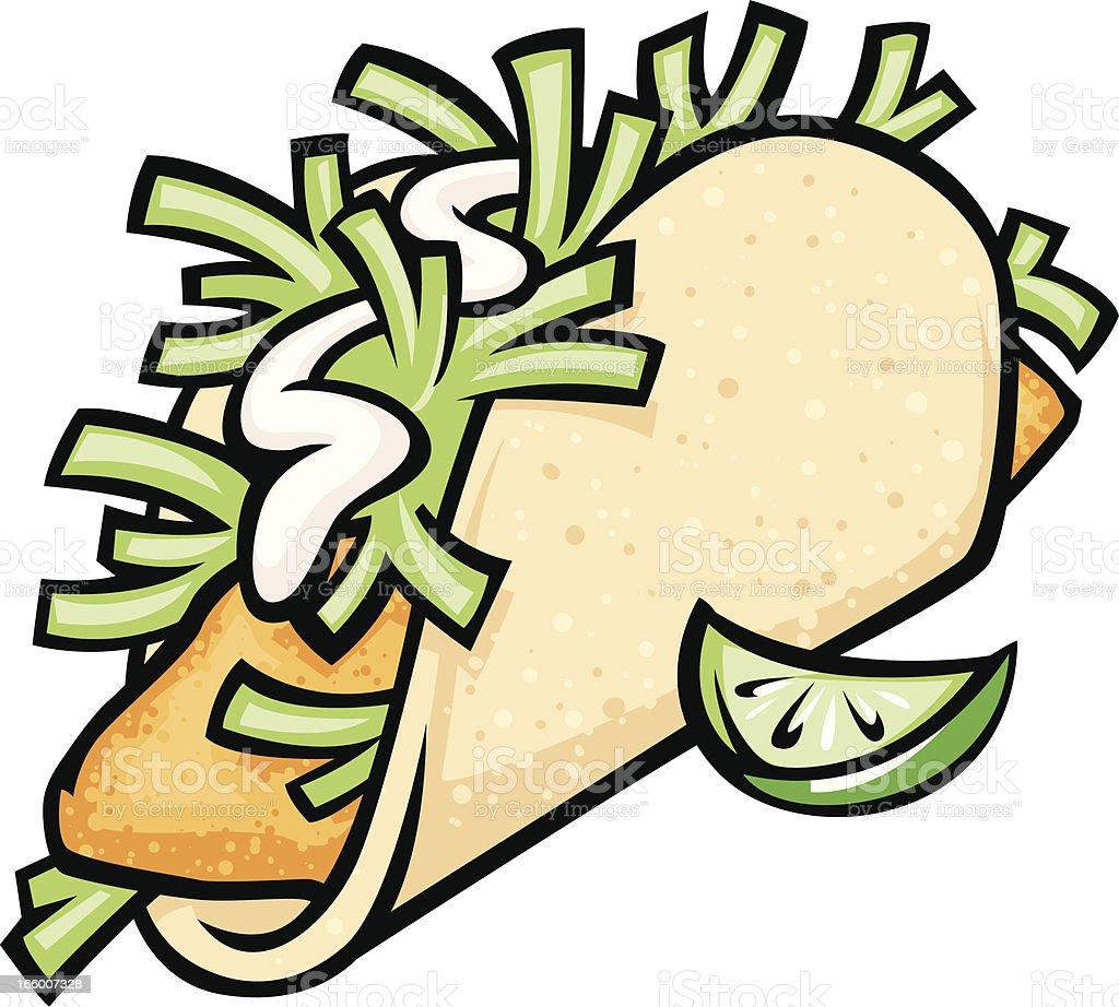 fish taco royalty-free stock vector art