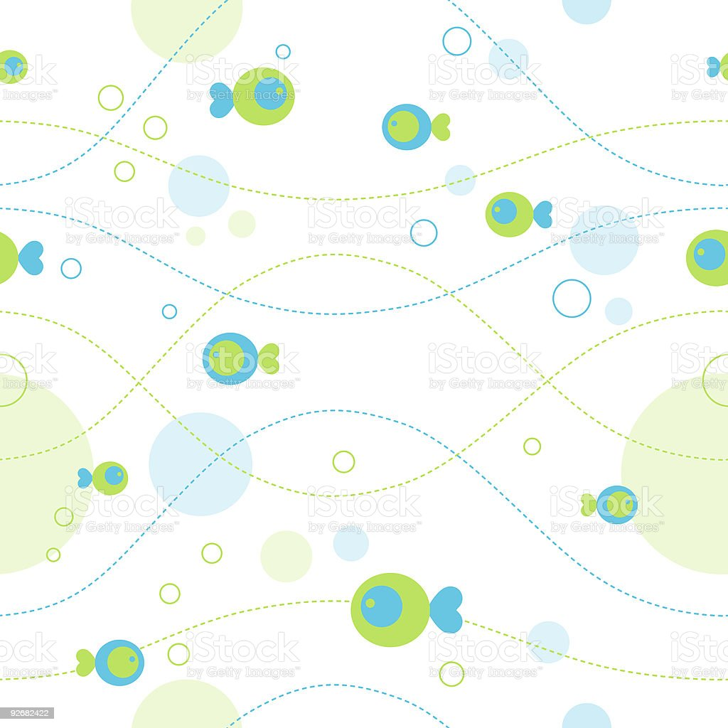Fish vector pattern royalty-free stock vector art