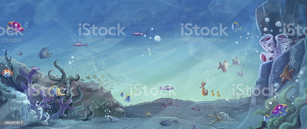 fishbowl vector art illustration