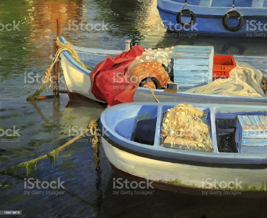 Fisherman's Etude royalty-free stock vector art