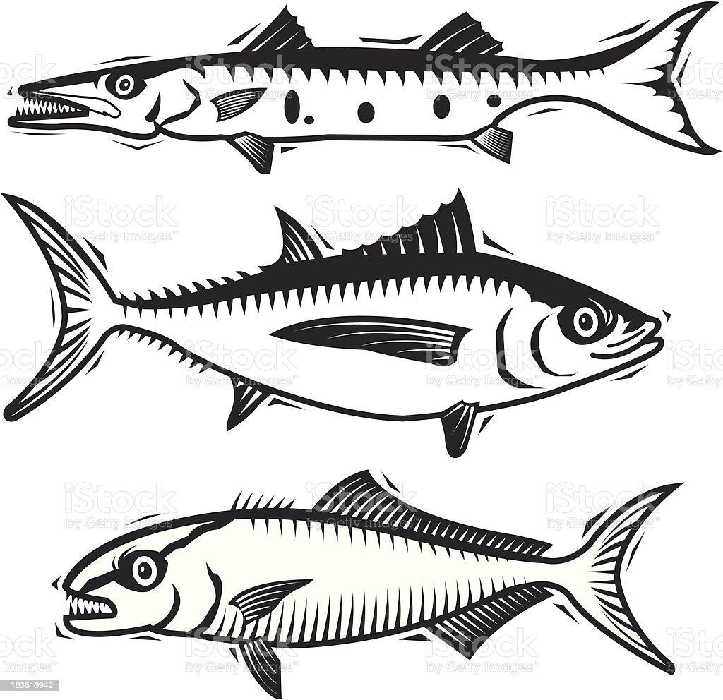 Fishies vector art illustration