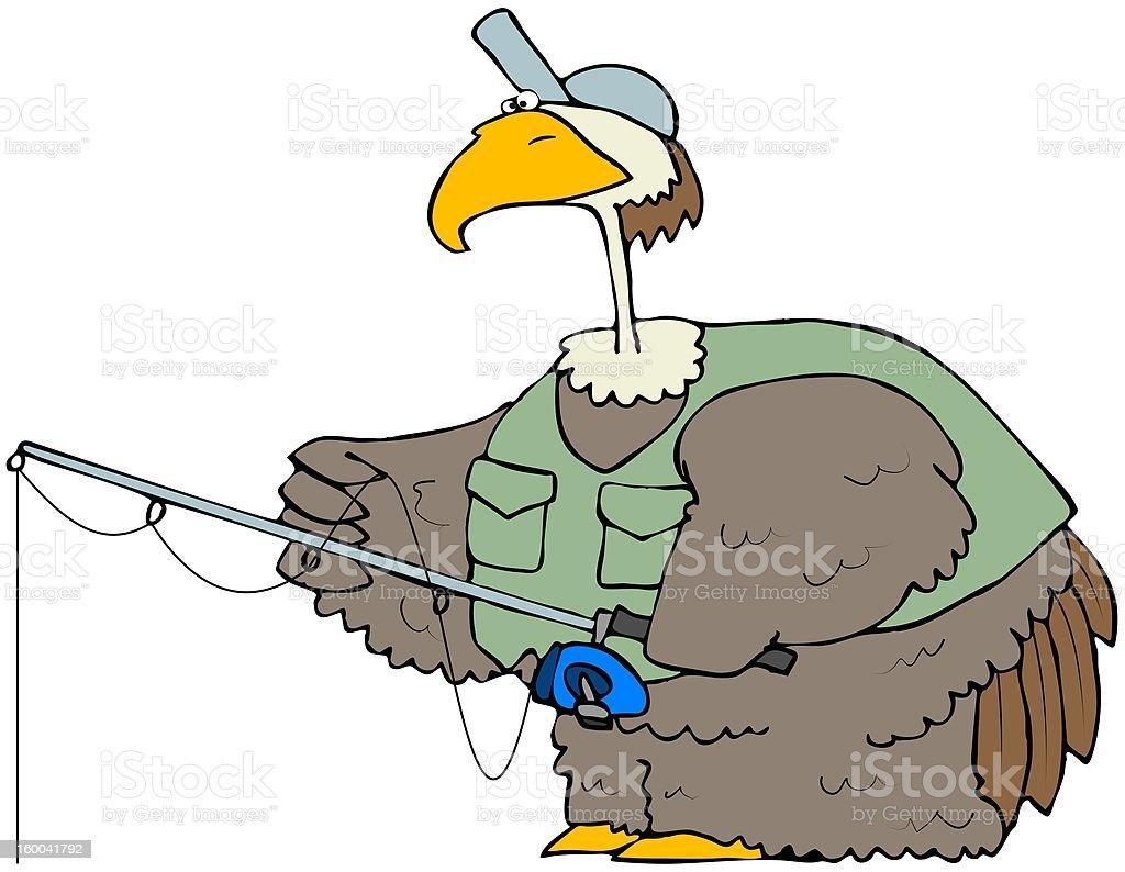 Fishing Bird vector art illustration