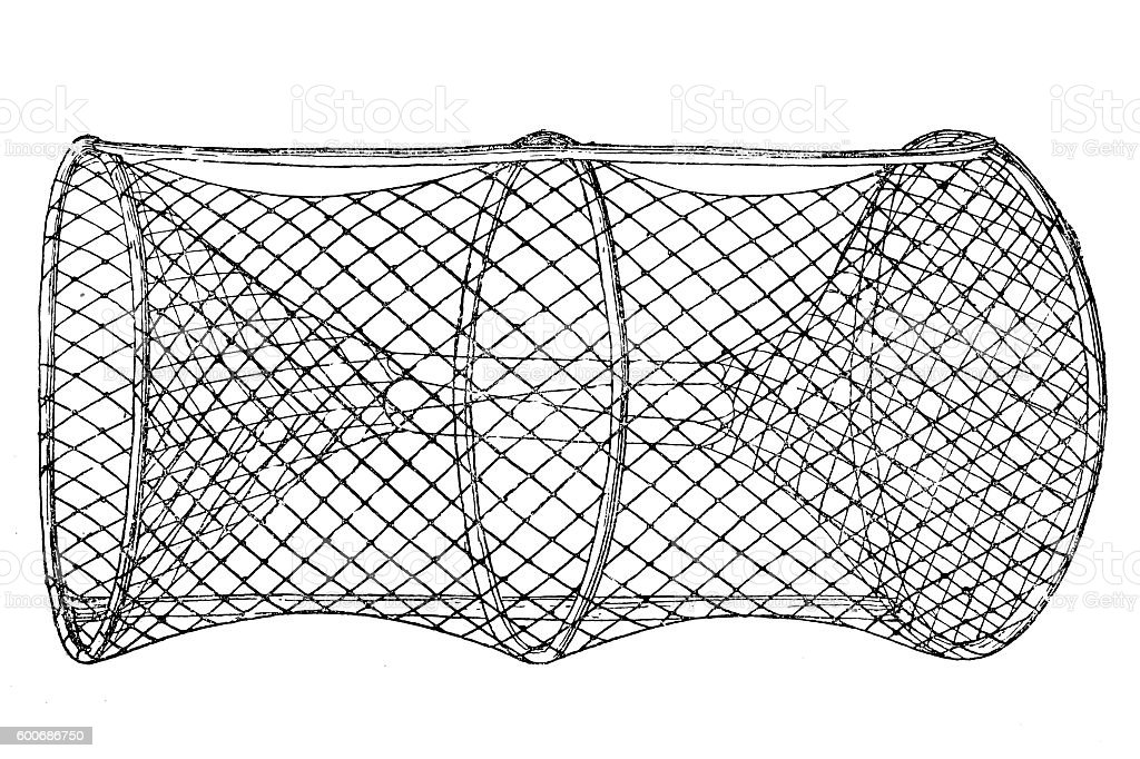 Fishing net vector art illustration