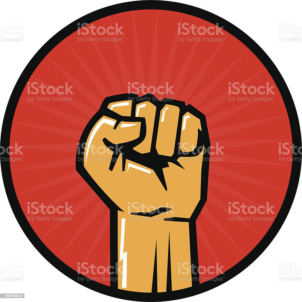 fist icon vector art illustration
