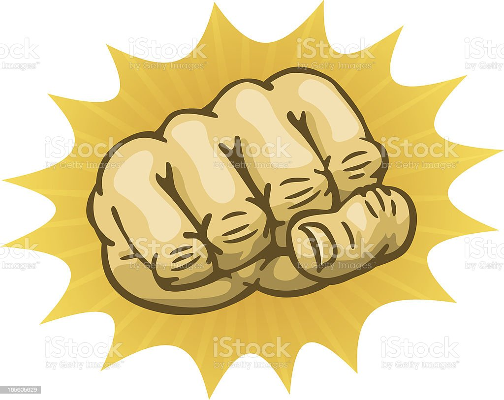 fist punch royalty-free stock vector art
