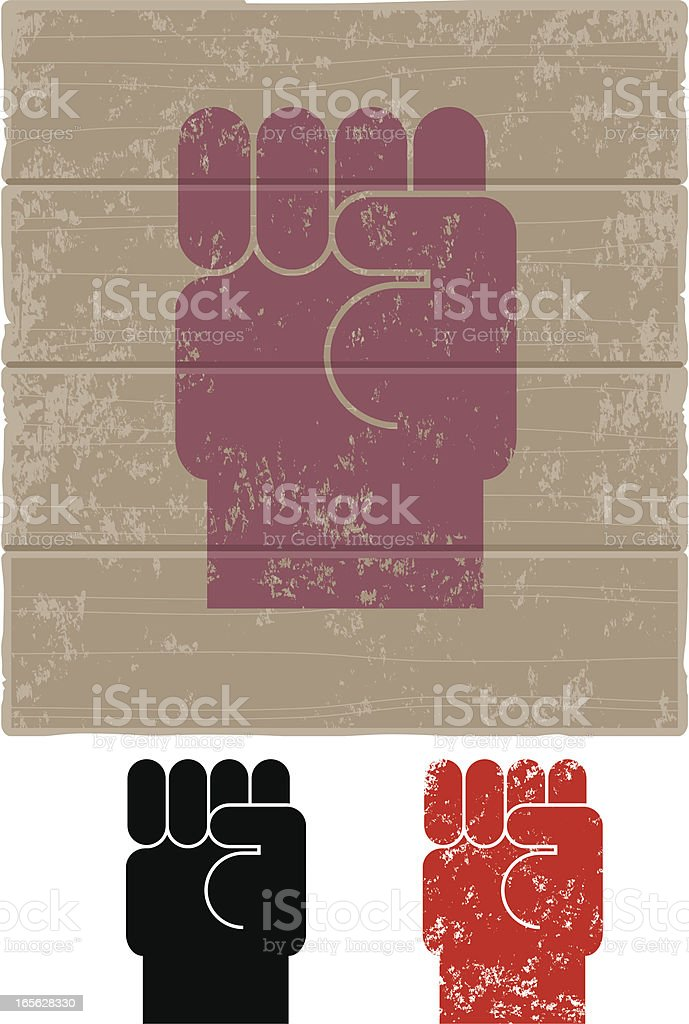 Fist two. royalty-free stock vector art