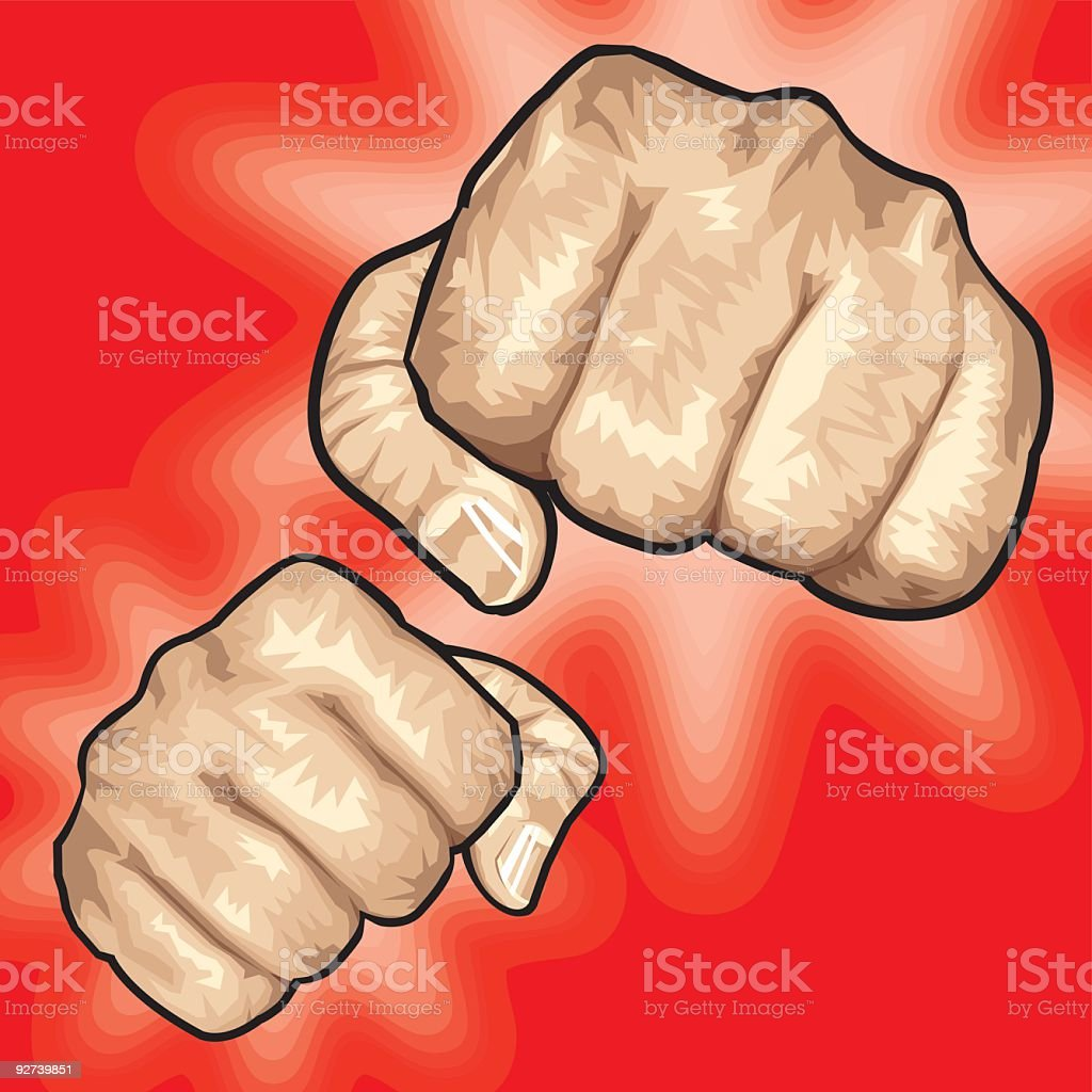 Fists royalty-free stock vector art