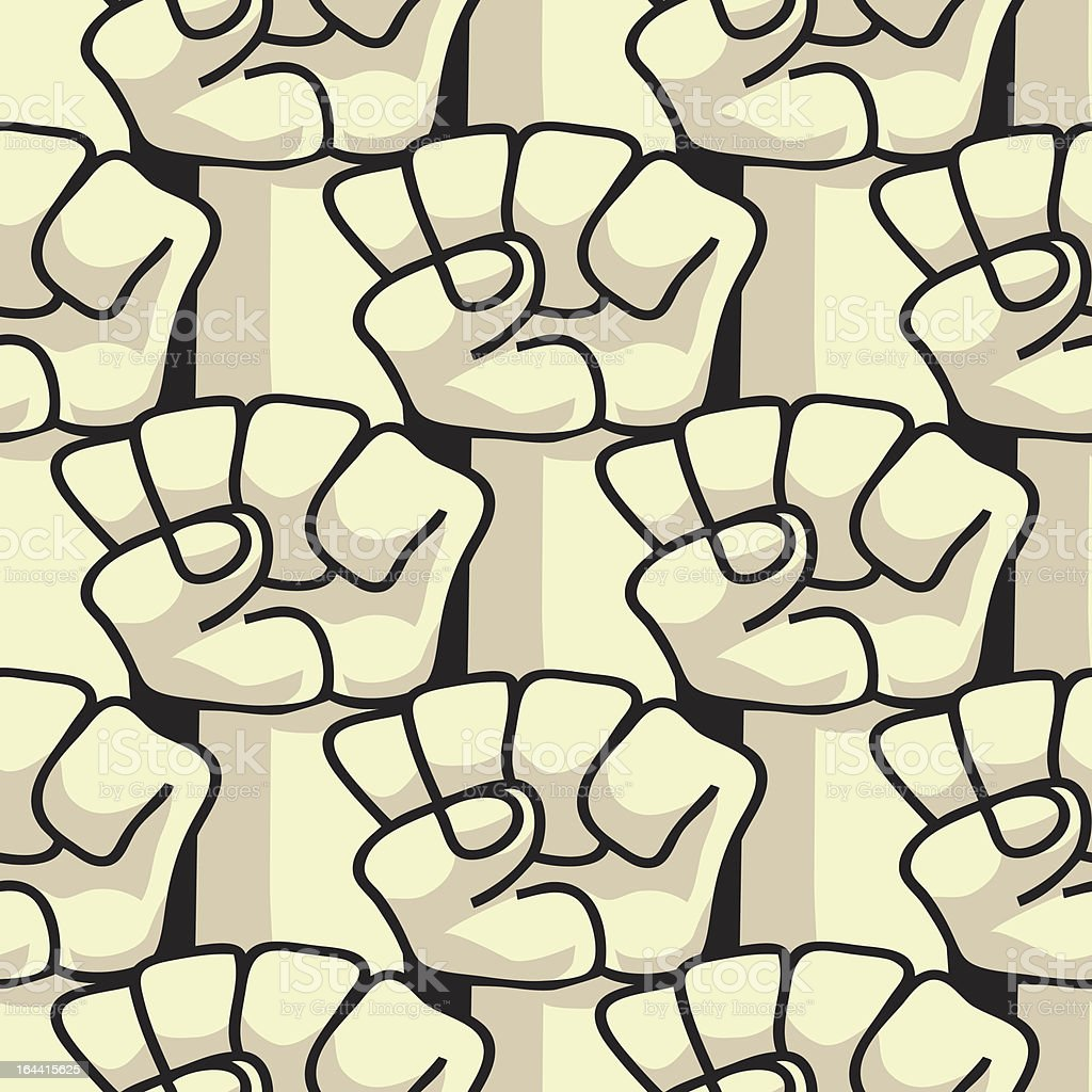 Fists - pattern seamless royalty-free stock vector art