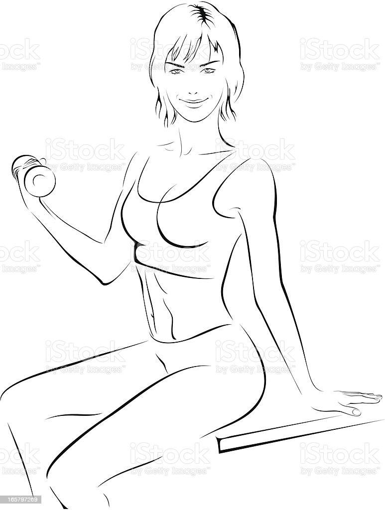fitness girl royalty-free stock vector art