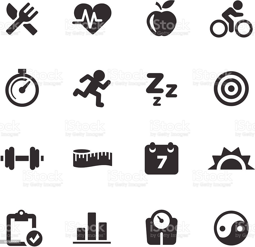Fitness Icons | Mono Series vector art illustration