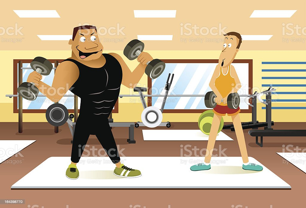 Fitness Show Off royalty-free stock vector art