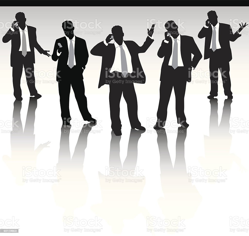Five business men royalty-free stock vector art