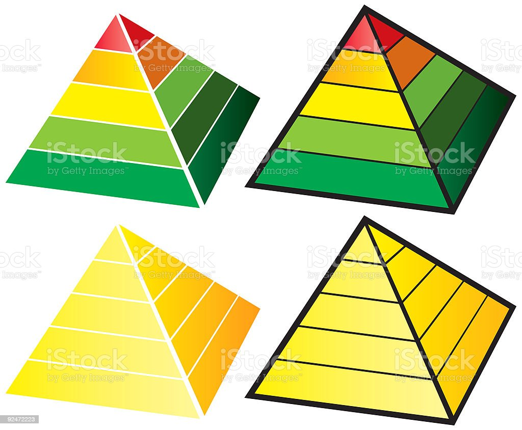 Five Tier Pyramid royalty-free stock vector art