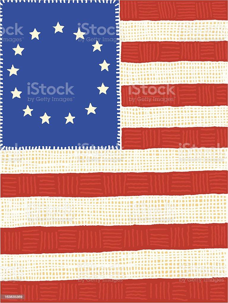 US Flag - 13 Colonies vector art illustration