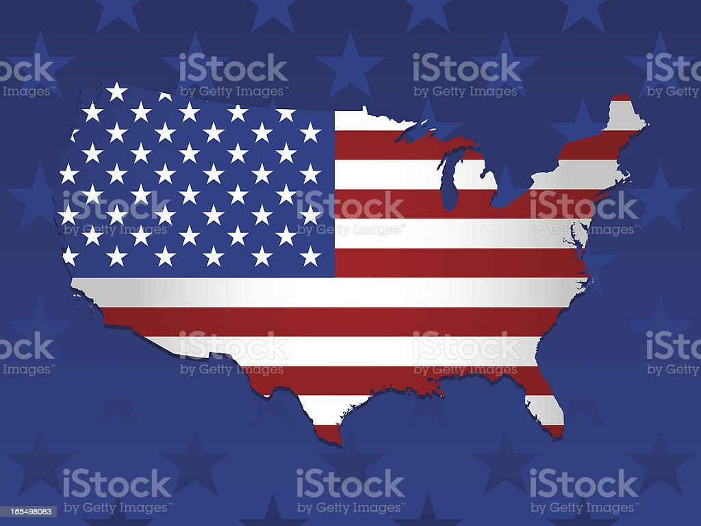 USA Flag Background vector art illustration