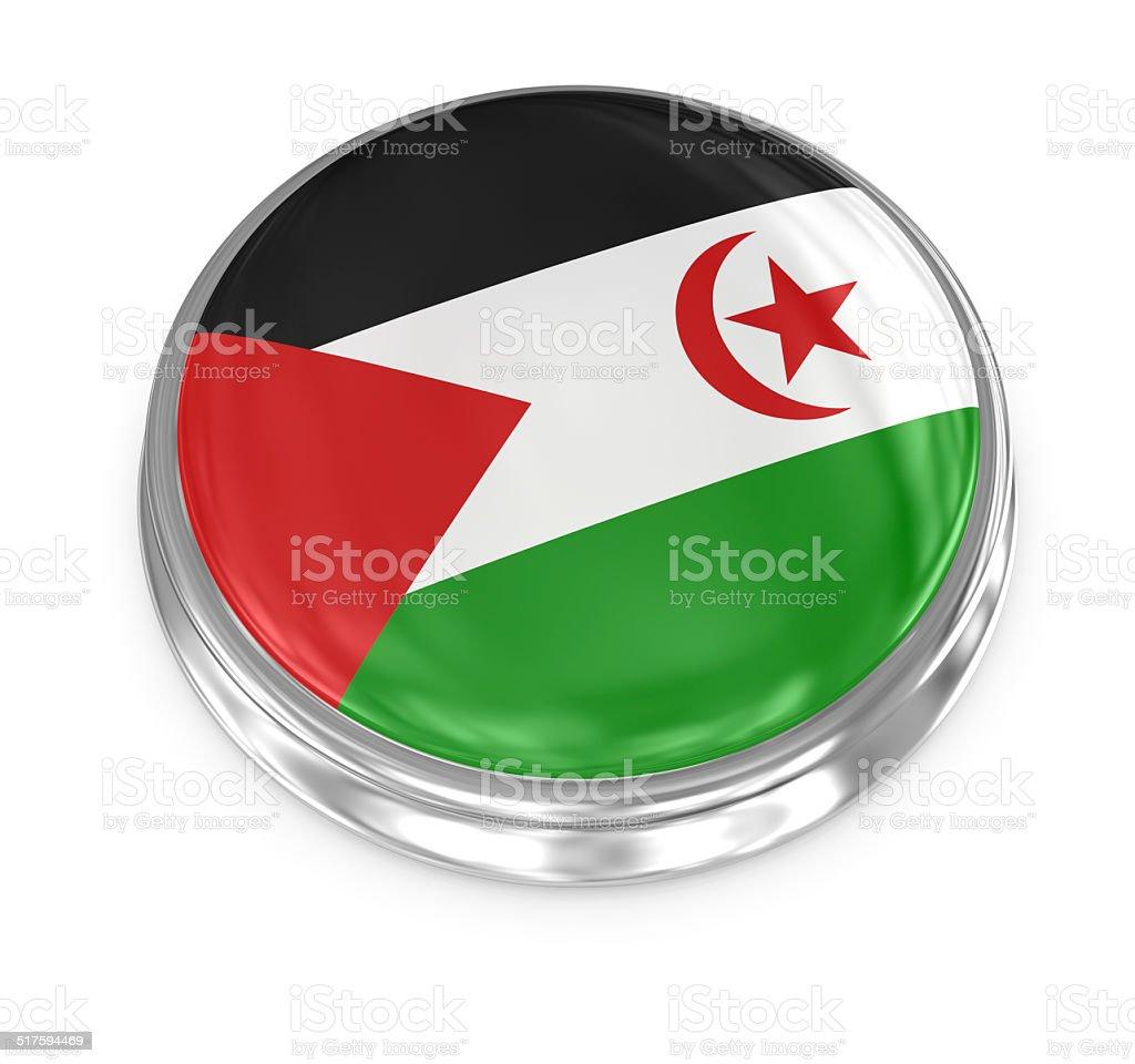 Flag badge vector art illustration