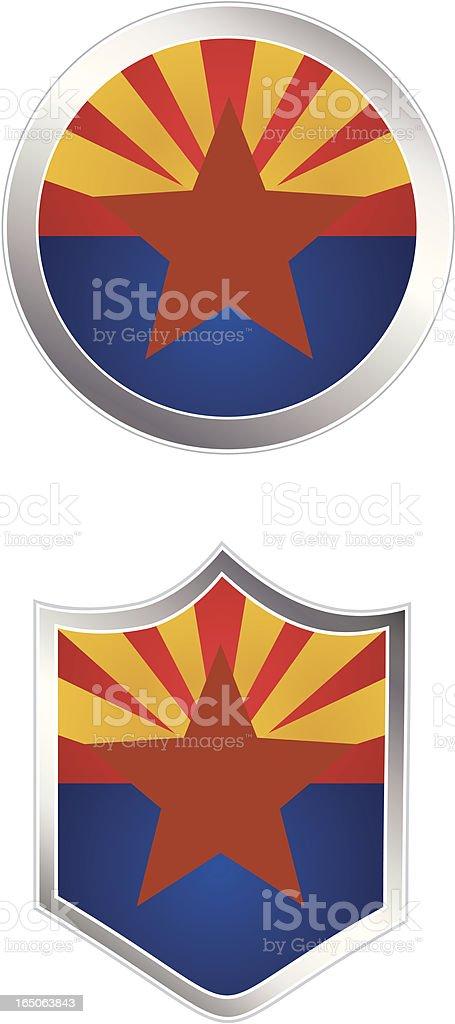 Flag Buttons Arizona royalty-free stock vector art