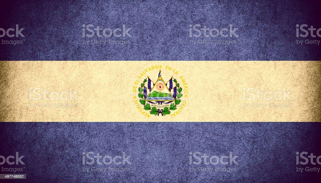 flag El Salvador vector art illustration