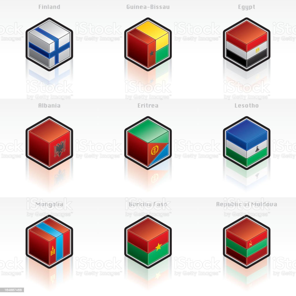 Flag Icons Set. Design Elements royalty-free stock vector art