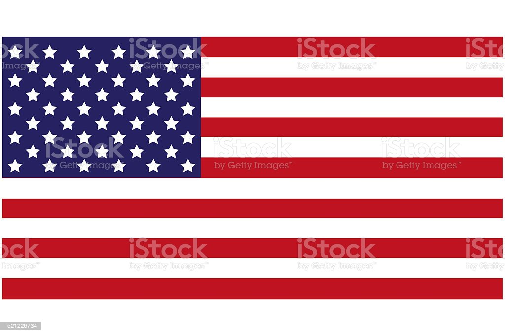 USA Flag royalty-free stock vector art