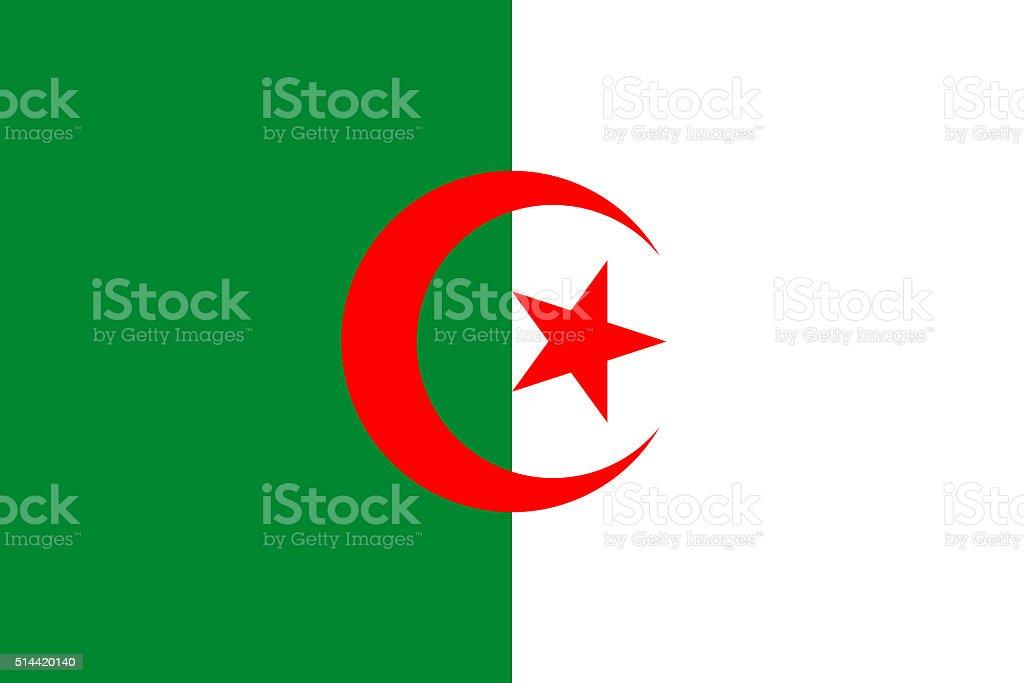 Flag of Algeria vector art illustration