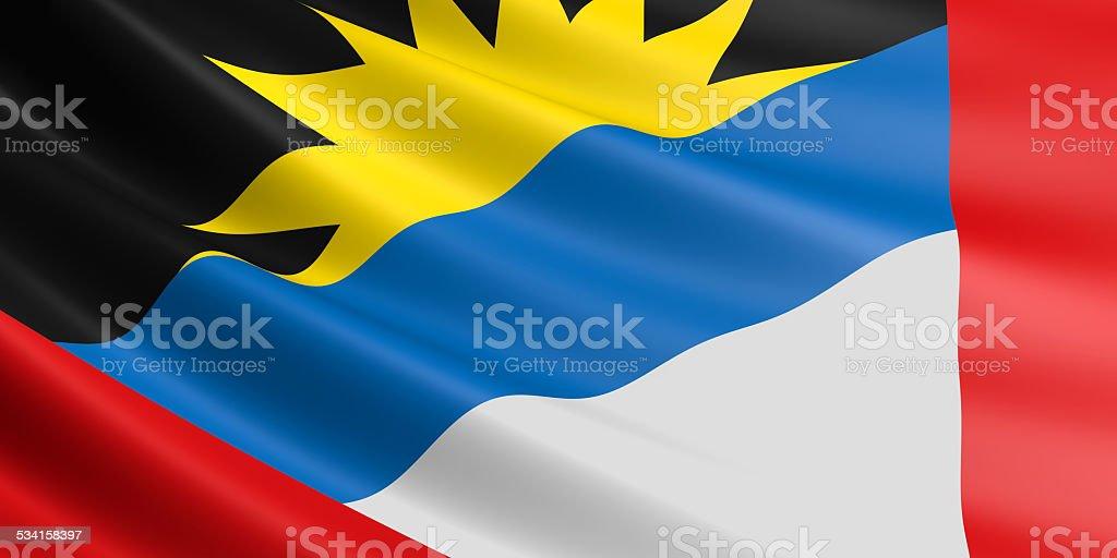 Flag of Antigua and Barbuda. royalty-free stock vector art
