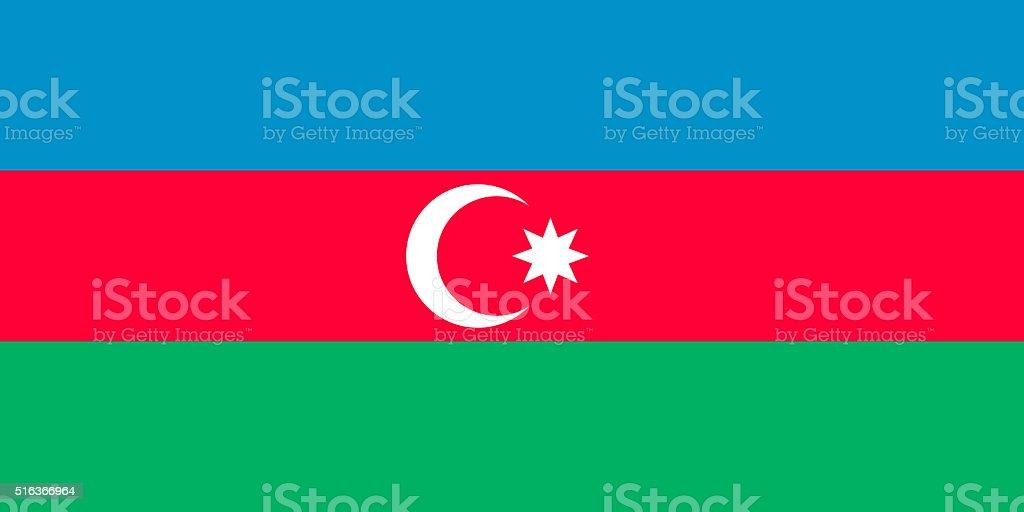 Flag of Azerbaijan vector art illustration