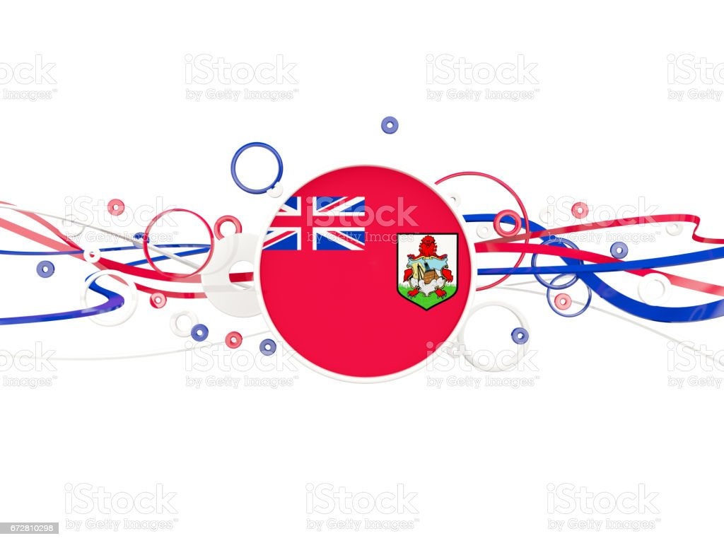 Flag of bermuda, circles pattern with lines stock photo