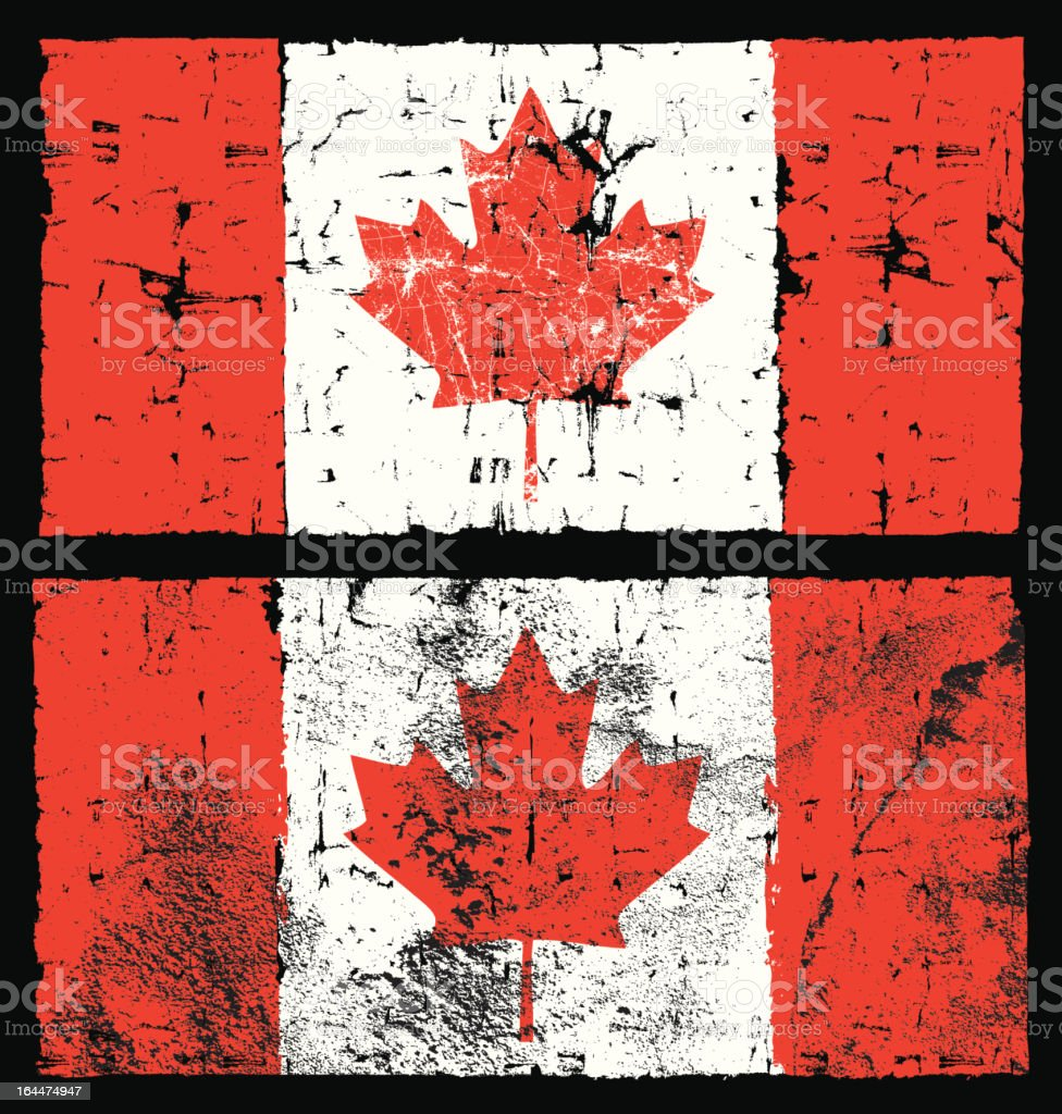 Flag of Canada, Grunge Style royalty-free stock vector art