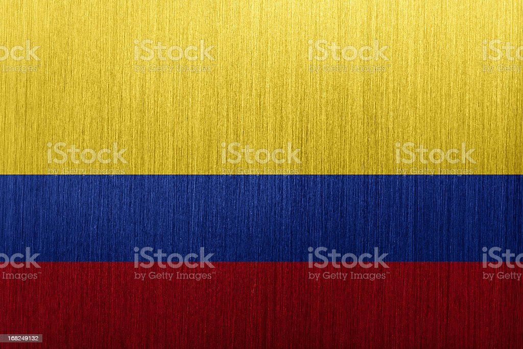 Flag of Colombia royalty-free stock vector art
