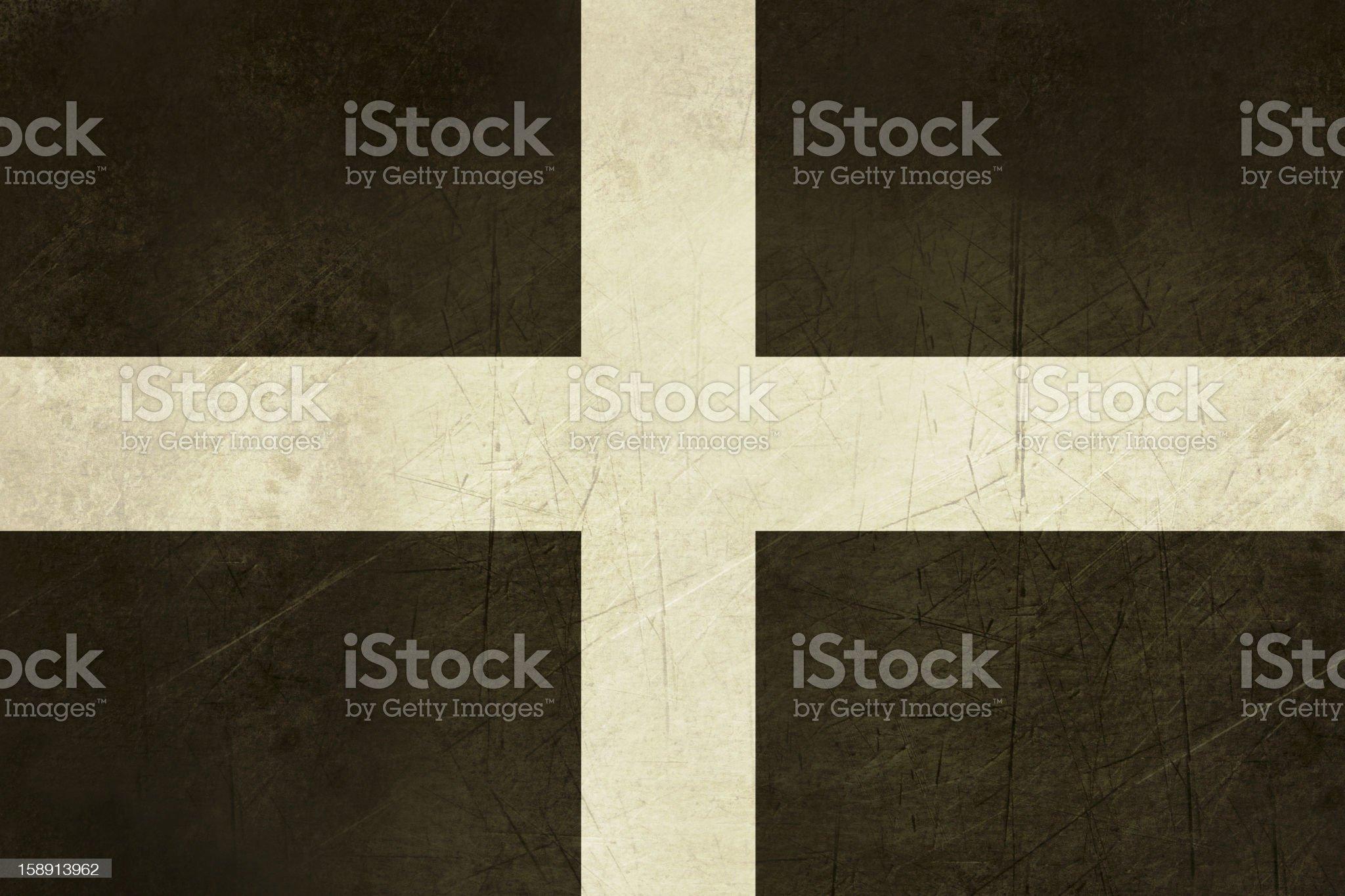Flag of Cornwall royalty-free stock vector art