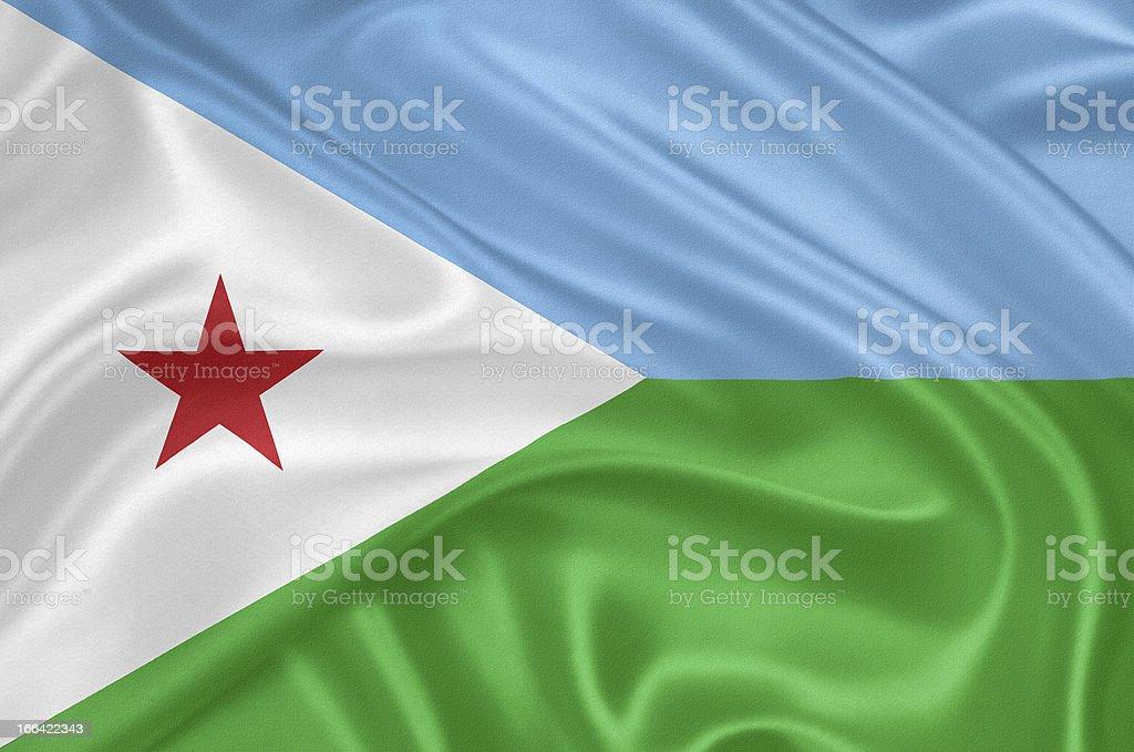 Flag of Djibouti royalty-free stock vector art