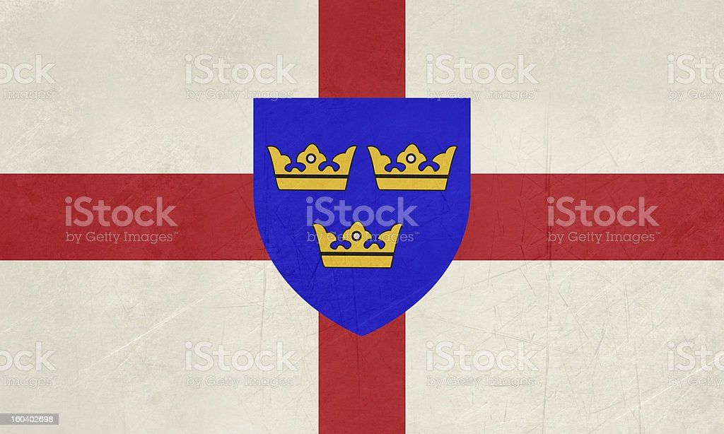 Flag of East Anglia royalty-free stock vector art