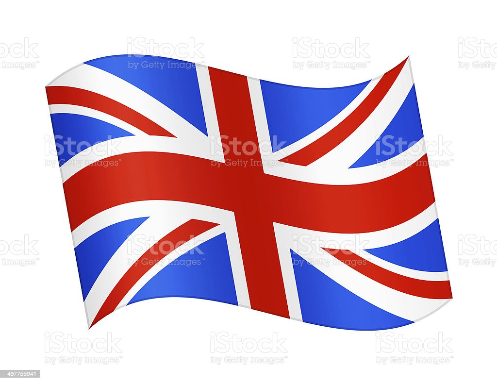 Flag of Great Britain royalty-free stock vector art